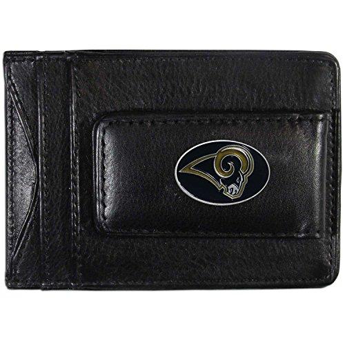 NFL St. Louis Rams Leather Money Clip Cardholder