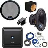 Alpine Bass Package - Type-S 12 Subwoofer w/ box, MRV-M500 500 watt amp, Bass Knob, Wiring Kit, and Grille