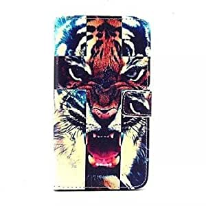 LIMME Vivid Tigers Pattern PU Leather Full Body Case with Stand and Card Slot for Samsung Galaxy Note 4