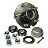 Rigid Hitch Trailer Hub Kit - 5 Bolt on 4-1/2'' Bolt Circle with 1 Inch I.D. Bearings