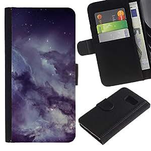 Protector de cuero de la PU de la cubierta del estilo de la carpeta del tirón BY RAYDREAMMM - Sony Xperia Z3 Compact - Misty nublado estrellado cielo nocturno