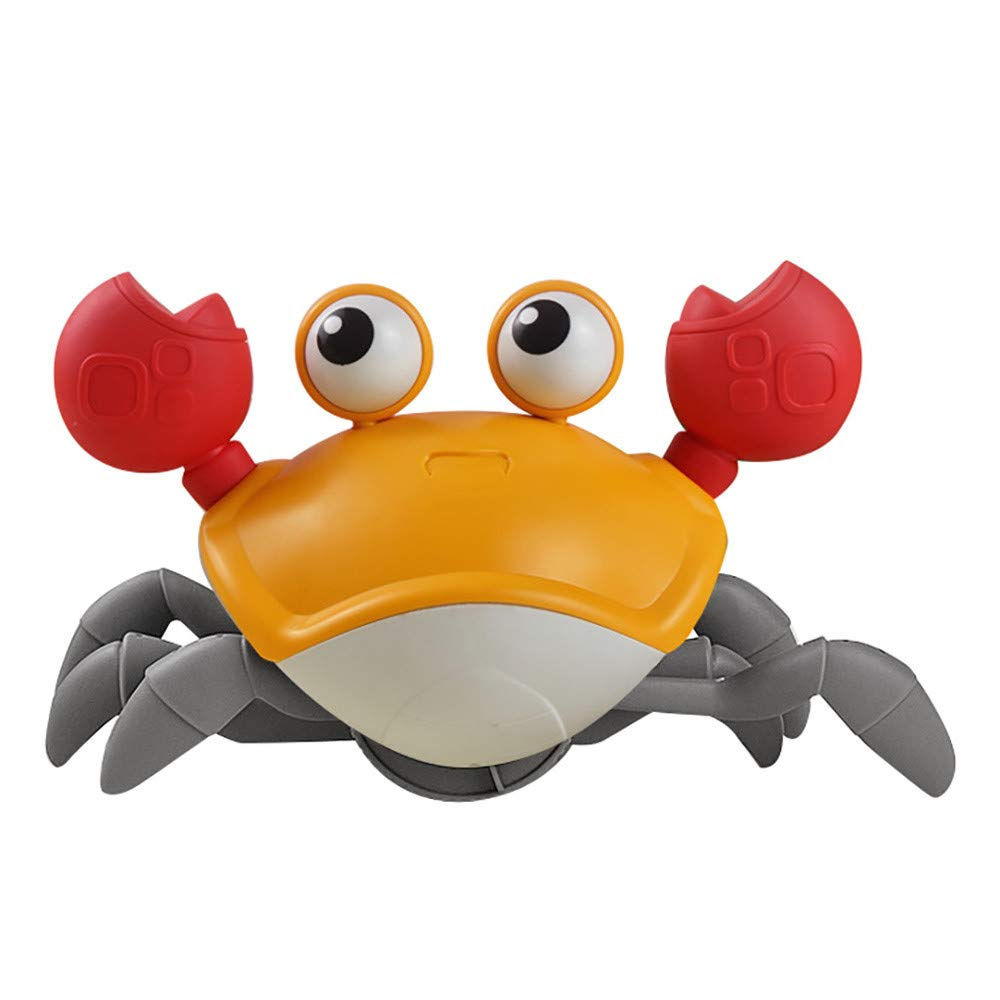 Blue EAZZ Amphibious Cute Wind up Swimming Crab Bath Toys for Toddlers 2 in 1 Baby Bathtub Toy- Push and Pull Toy,Walking Toys Babies