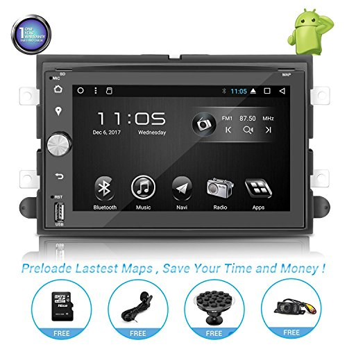 Android Car Stereo with Navigation-7 Inch Touch Screen Double Din Car Stereo with Bluetooth 2 Din Android Head Unit GPS Navigation for Car Ford F150 F250 F350 Mustang Edge Focus Explorer Shelby (1)