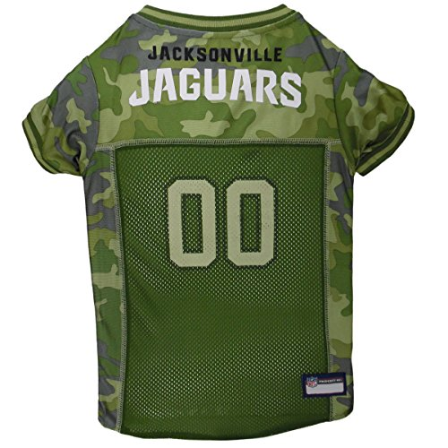 (NFL Jacksonville Jaguars Camouflage Dog Jersey, Small. - CAMO PET Jersey Available in 5 Sizes & 32 NFL Teams. Hunting Dog Shirt)