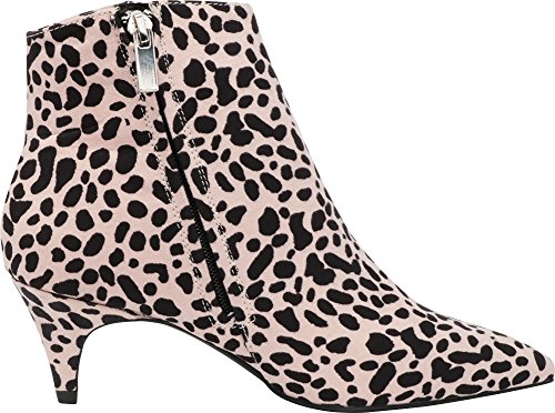 Pointed Kitten Ankle Cambridge Heel Women's Imsu Low Toe Select Leopard Bootie Closed qnZtAUfH