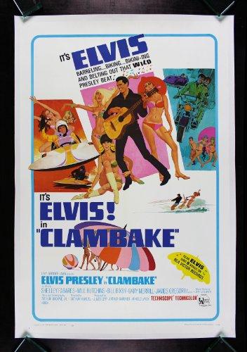 CLAMBAKE * CineMasterpieces ORIGINAL MOVIE POSTER CLAM BAKE ELVIS PRESLEY 1967 by CineMasterpieces