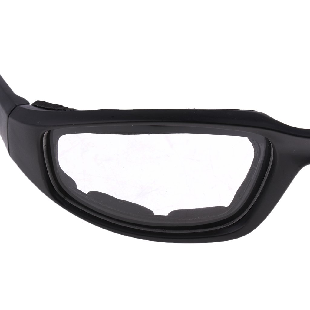 Homyl Motorcycle Glasses Outdoor Sports Driving Bike Riding Glasses Padded Wind Resistant Sunglasses