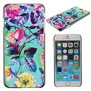 SHOUJIKE Bright-Coloured Flower Vine Design PC Hard Cover for iPhone 6 Plus