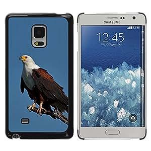TopCaseStore / la caja del caucho duro de la cubierta de protección de la piel - Bird Feathers Black American - Samsung Galaxy Mega 5.8 9150 9152