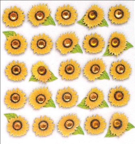 Jolee's Boutique Dimensional Stickers, - Sunflowers Dimensional Stickers