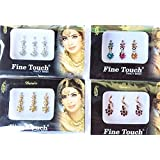 THE ONLY ORIGINAL 4 PACK GOLD, SILVER, MULTI colour ASSORTED SIZE BOLLYWOOD HEAD BINDI TATTOO INDIAN ART RHINESTONE STICKON REUSEABLE FROM LIGHTAHEAD