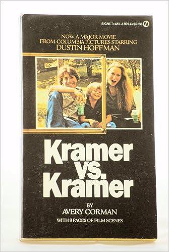 Kramer Vs Kramer Avery Corman 9780451110008 Amazon Books