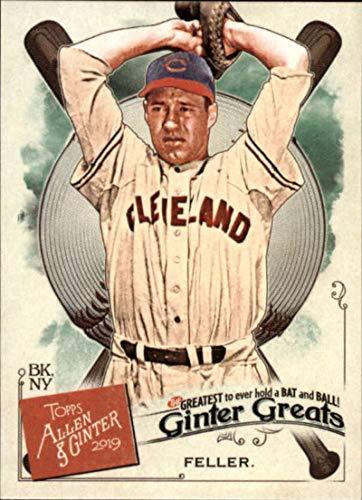 2019 Topps Allen and Ginter Ginter Greats #GG-9 Bob Feller Cleveland Indians MLB Baseball Trading Card Bob Feller Mlb Baseball
