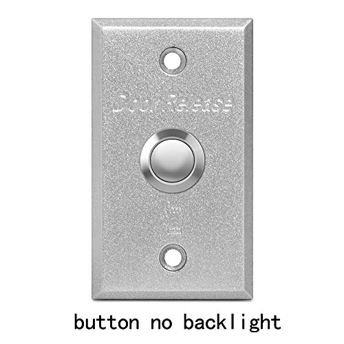 BSTUOKEY 8650mm Aluminum Alloy Push Button Switch Exit Button Door Release for Door Lock Access Control gate Door Opener (Button no Backlight) / BSTUOKEY 8650mm Aluminum Alloy Push Button Switch Exit Button Door Release for Door Lo...