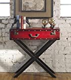 31.75'' Antique Red Trunk Wooden Console Table