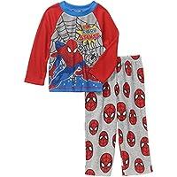 Marvel Spiderman Little Boys Long Sleeve Top Fleece Pants Pajama 2 Piece Set