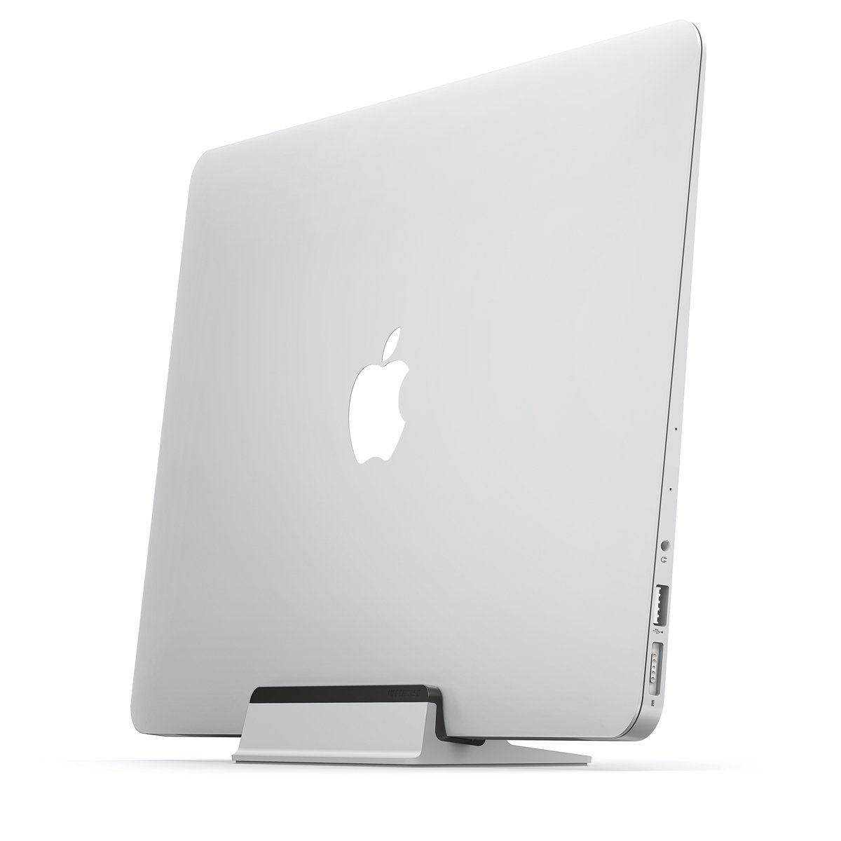 UPPERCASE KRADL Air with Contrast Black Small Profile Aluminum Vertical Stand for MacBook Air