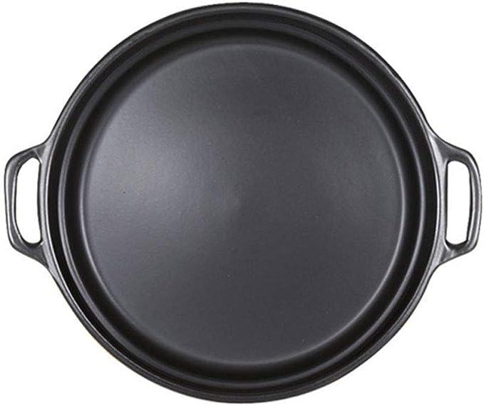 WPCBAA 29 cm Antiadherente Pizza Pan Bandeja Redonda para Barbacoa Cerámica Resistente al Calor Piedras de Pizza para Hornear Herramientas Accesorios de Cocina: Amazon.es: Hogar