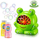TOSCiDO Bubble Machine Automatic Bubble Maker Durable Portable Bubble Blower for Kid, Over 500 Colorful Bubbles Per Minute, Including Bubble Solution Easy to Use for Picnic, Parties, Wedding