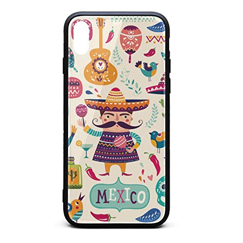Mexican Cactus Llama Skull Phone Case for iPhone Xs Max TPU Gel Full Protective Stylish Anti-Scratch Fashionable Glossy Anti Slip Thin Shockproof Soft Case