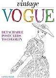 Vintage Vogue: Detachable postcards to color in