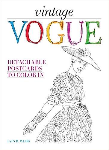 Vintage Vogue Detachable Postcards To Color In British Vogue Iain