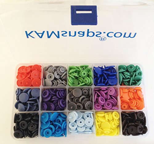 15-Color KAMsnaps Organizer Storage Container 150 Sets Size 20 (1/2
