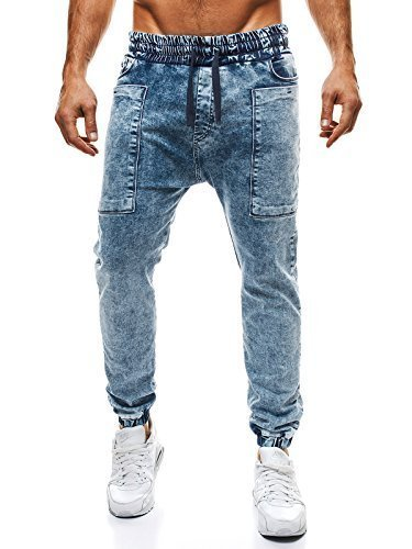 OZONEE – Pantalón para Hombres Jeans Pantalón Pantalón Jogging Deporte Skinny Jeans Jogger OTANTIK 809