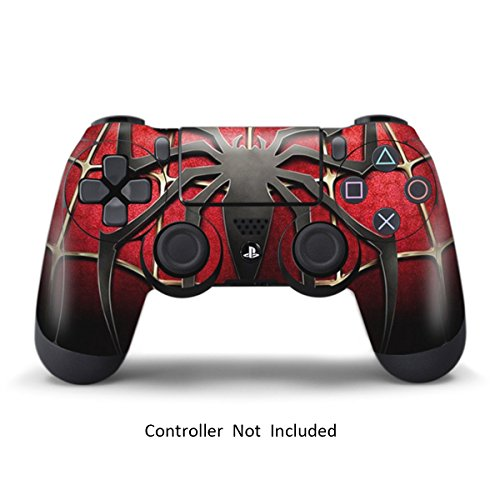 Skins for PS4 Controller - Stickers for Playstation 4 Games - Decals Cover for PS4 Slim Sony Play Station Four Controllers PS4 Pro Accessories PS4 Remote Wireless Dualshock 4 Skin - Widow Spider