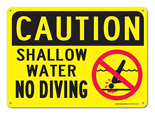Shallow Water No Diving Sign, Federal 10