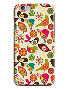 Hippy Birds Bright Colour Designs 3D Printed Design iPhone 6 Hard Case Protective Cover Shell