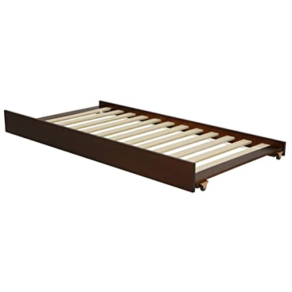 Amazon.com: LightHeaded Beds 20294 Trundle Bed, Twin, Chestnut ...