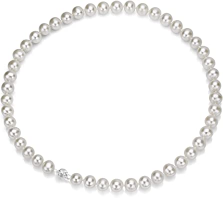 Roy Rose Jewelry Sterling Silver 6-7mm Black Freshwater Cultured Pearl Necklace 18 Length