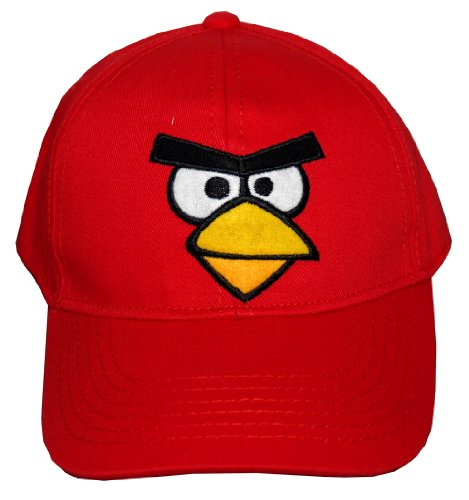 Angry Birds Robio Red Bird Face Video Game Adjustable Toddler Baseball Cap Hat