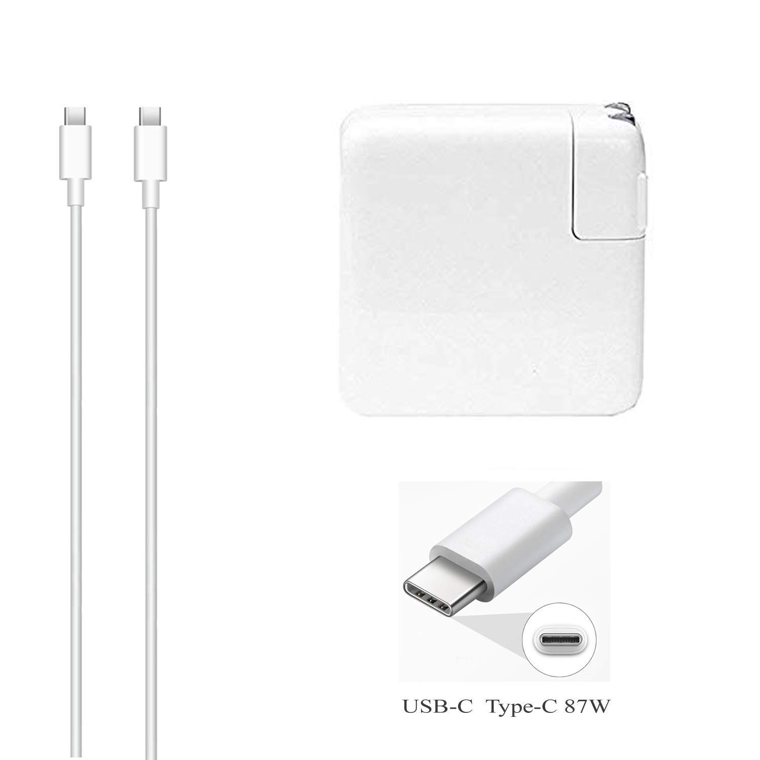 DTK 87W USB-C Type C Charger Compatible with New MacBook Pro Hp Acer Asus Lenovo Dell Huawei Matebook Laptop Smartphone Power Adapter