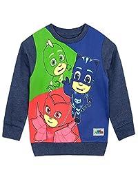 PJ Masks Boys' Catboy Owlette Gekko Sweatshirt Size 7