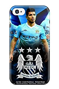 Quality AnnDavidson Case Cover With Manchester City Background Nice Appearance Compatible With Iphone 4/4s by lolosakes