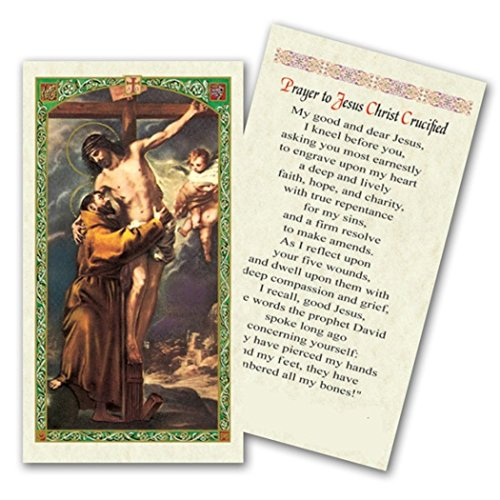 Saint Francis of Assisi Patron Saint of Animals and Ecologists Prayer Before Jesus Christ Crucified Blessed by His Holiness Pope Francis