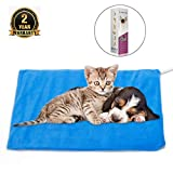 MARUNDA Pet Heating Pad Small,Cat Dog Electric Pet Heating Pad Indoor Waterproof,Auto Constant Temperature Warming 12x15 inches Bed with Chew Resistant Steel Cord