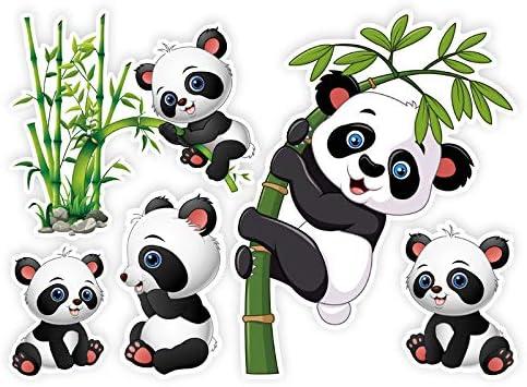Hxx Panda Dessin Anime Mignon Autocollant Etanche Valise Ordinateur Portable Planche A Roulettes Guitare Autocollants 5pcs Amazon Fr Cuisine Maison