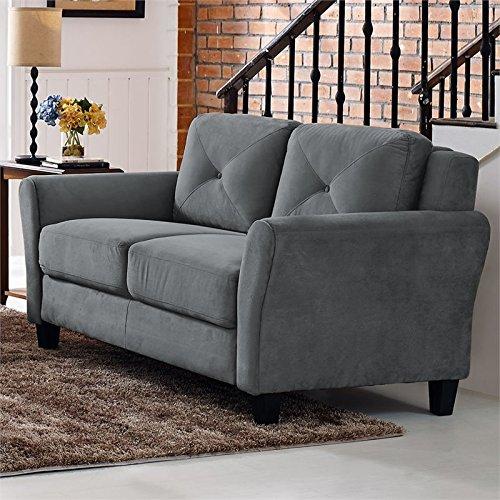 Lifestyle Solutions Harrington Loveseat in Grey, Dark Grey by Lifestyle Solutions (Image #2)