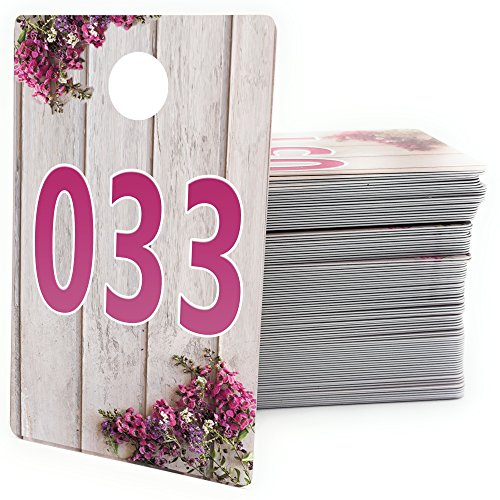 Large Live Sale Number Tags for Facebook Live Sales and LuLaroe Supplies, Normal and Reversed Mirrored Image, Reusable Hanger Cards, 100 Consecutive Numbers -
