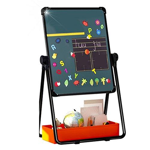 Easels 子供用 図面ボード 両面 磁気 小さな黒板 家庭 子供用 落書き ボード ホワイトボード 子供用 ブラケット折りたたみ式 持ち運び簡単 58x63cm