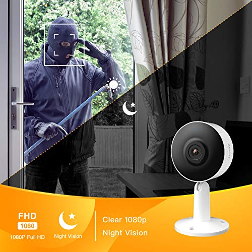 Arenti Home Security Camera WiFi 1080P FHD, IN1 Indoor Cam with Night Vision, 2 Way Audio, Motion & Sound Detection - Smart IP Camera Works with Alexa, Google