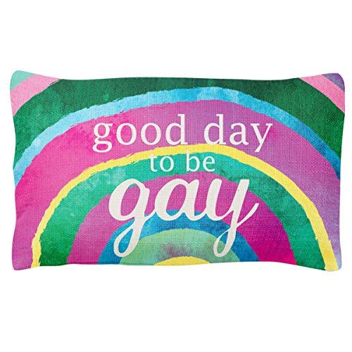 Wit Gifts Lumbar Pillow, Rainbow