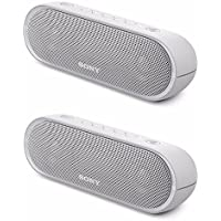 Sony XB20 Portable Wireless Speaker with Bluetooth, White (2017 model) (2-Pack)