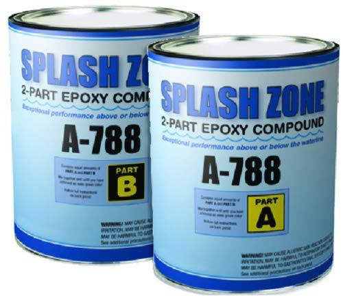 New A-788 Splash Zone Compound pettit A788hg 1/2 Gallon 1 Qt A & 1 Qt B