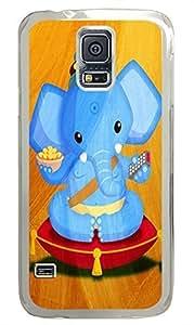 funny Samsung Galaxy S5 cases Tv Elephant Art PC Transparent Custom Samsung Galaxy S5 Case Cover