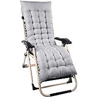 NewSoul1us Chaise Lounge Cushions, Recliner Chair Pads, Solid Color Overstuffed Sun Lounger Mattress 60-Inch for Garden Outdoor/Indoor/Veranda