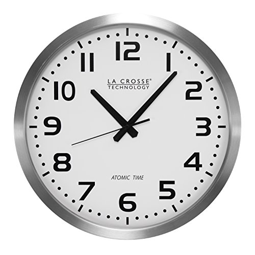La Crosse Technology WT-3161WH 16-Inch Metal Atomic Analog (Analog Time Zone Clock)